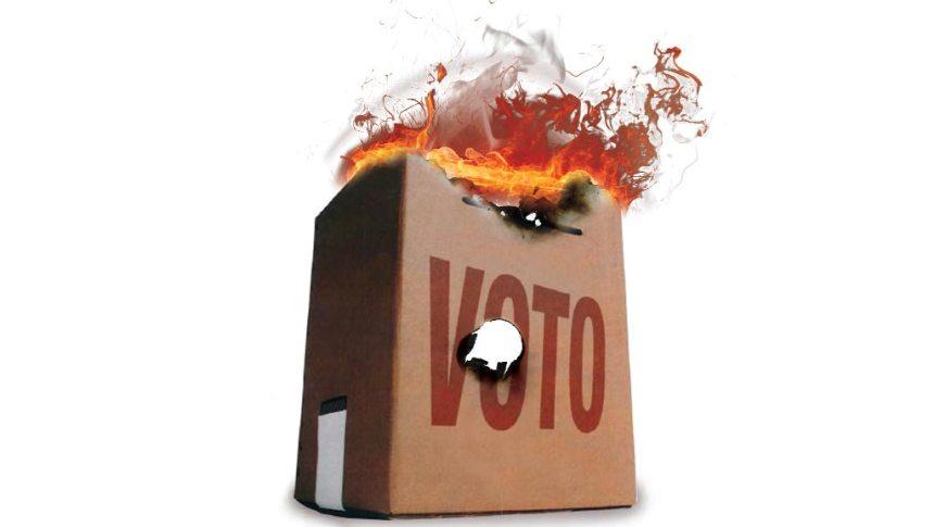 urna incendiada