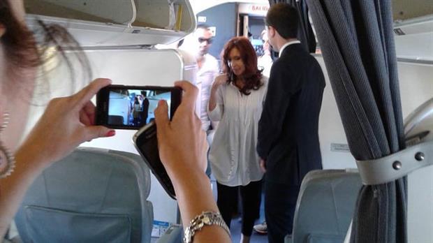 El vuelo de AA armado por Cristina