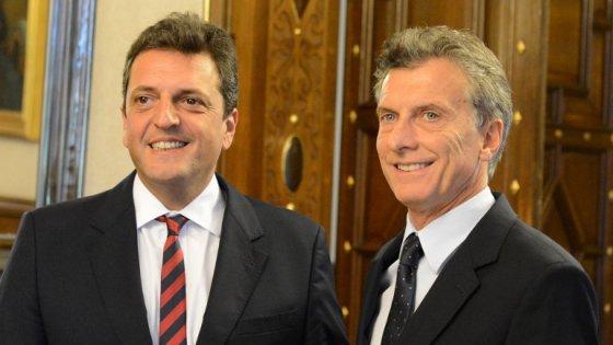 viaje de Macri y Massa a davos