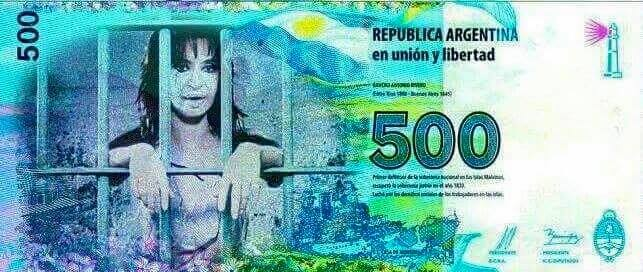 billete cfk presa