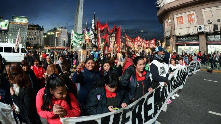 Cooperativistas marcharon a Plaza de Mayo