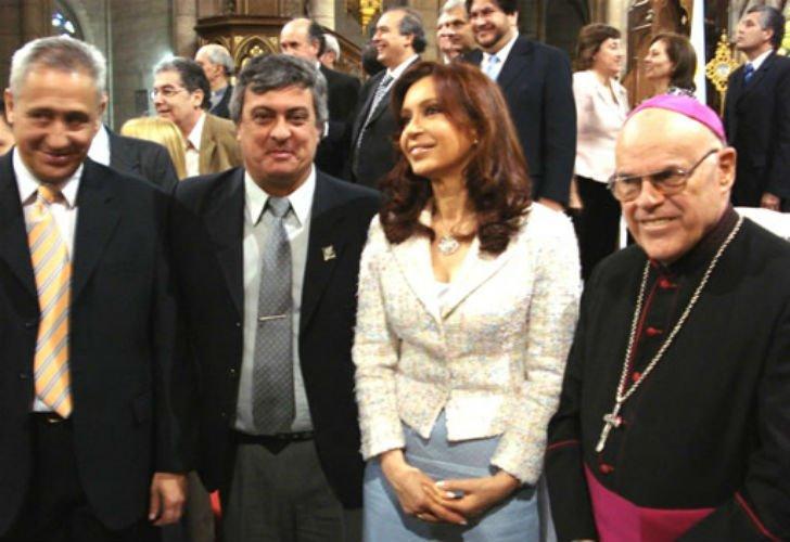 Monseñor Di Monte con CFK