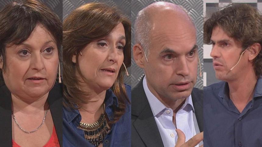 Ocaña, Michetti, Rodríguez Larreta y Lousteau