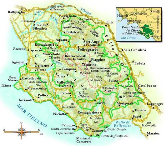 Mappa Cilento - Cartina del Cilento