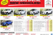 Indongo Toyota Managers Special