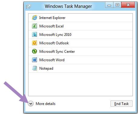 Conoce el nuevo Administrador de Tareas de Windows 8
