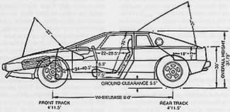 1977 Lotus Esprit S1 V8 specifications