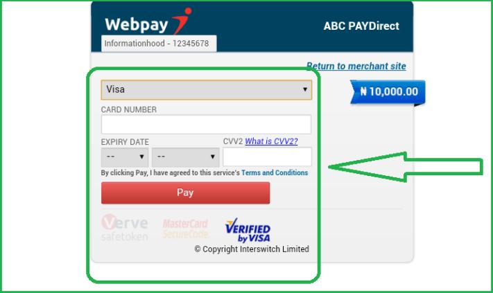 ABC Motors Online Booking payment details page