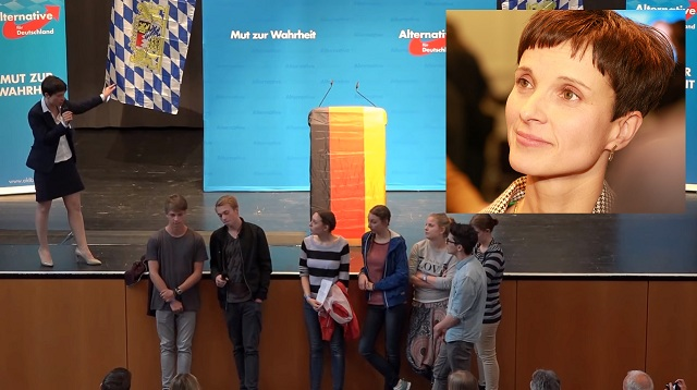 WATCH Germanys New Right Leader Schools Brainwashed