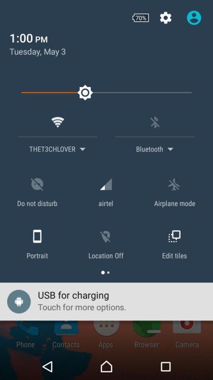 Notification Bar in XOSp ROM