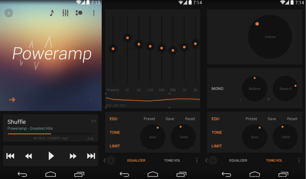 Skins and Music Player Inbuilt in Power Amp