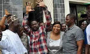 MIKE OZEKHOME, SAN, SHORTLY AFTER HE WAS RELEASED BY HIS CAPTORS