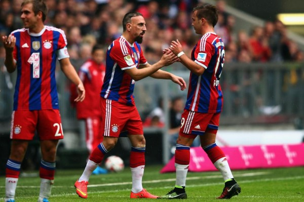 Franck Ribery Made His Comeback from a Back Injury Against Stuttgart in September. Image: Getty.