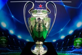 The Uefa Champions League Trophy.