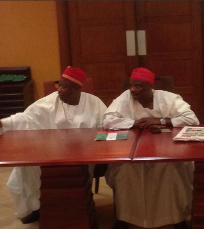 Gov Kwankwaso and deputy Dr Ganduje in Lagos for APC National convention