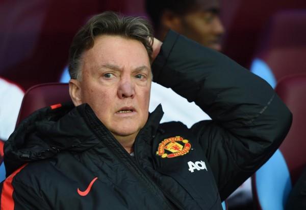 Louis van Gaal Watches in Frustration as Man Utd Drop Points against Astin Villa. Image: Getty.