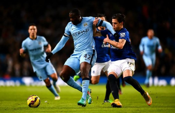 Yaya Toure's Goal Helped City Move Within Three Points of Leaders Chelsea. Image: Getty.
