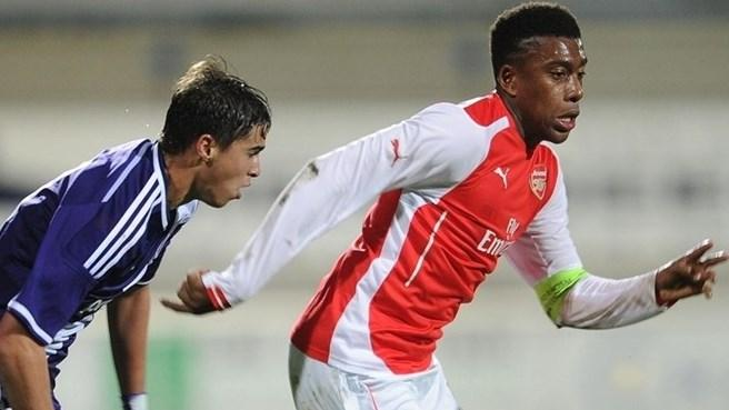 Alex Iwobi in Action During a Uefa Youth League Game. Image: AFP/Getty.