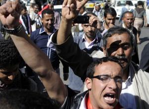 Yemenis stage demonstrations in capital Sanaa