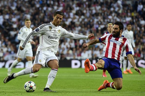 Cristiano Ronaldo Denied By Arda Turan at the Santiago Bernebeu. Image: Getty.