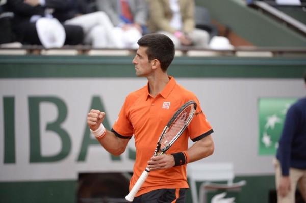 Novak Djokovic a pumps Fist after Defeating Kokkinakis. Image: Getty.