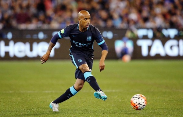 Fabian Delph Injures Hamstring on His Manchester City Debut. Image: Getty.