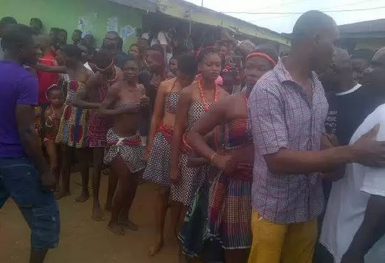 Photos From An Unclad Annual Virgin Dance That Holds In Abiriba Kingdom