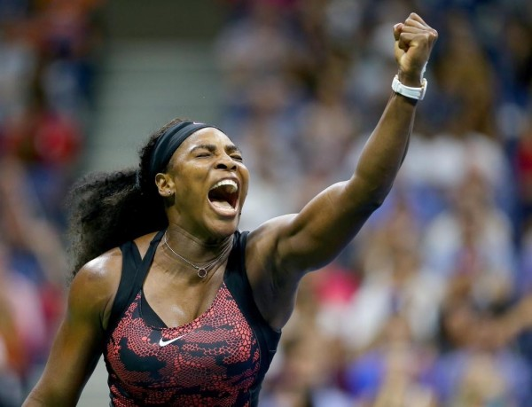 Serena Williams Celebrates Her Third-Round Win Over Mattek-Sands at the U.S. Open. Image: Getty via USTA.