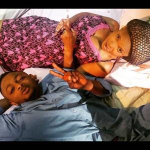 [PHOTO]  Sean Tizzle In Bed With Yoruba Actress, Iyabo Ojo