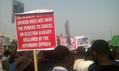 APC-Protesters Bayelsa