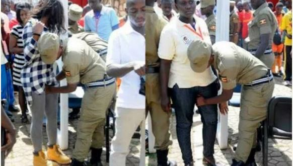 Omg See How Ugandan Security Men Touch Womens Private Parts Before Entering -1665