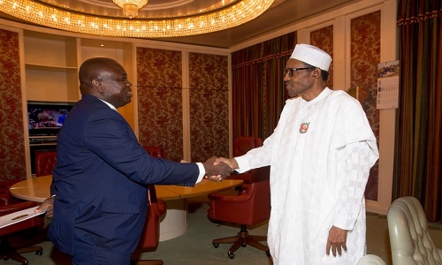 Akinwunmi Ambode and Muhammadu Buhari