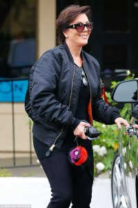 Kris-Jenner-glows-in-Yeezy-collection