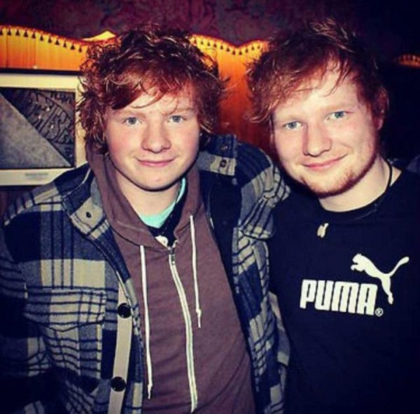Which one of them is Ed Sheeran?