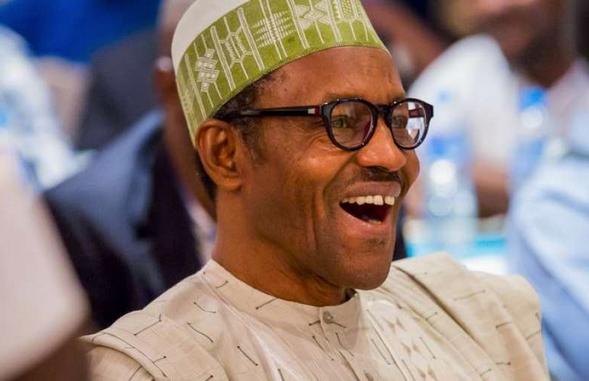 Buhari laughing