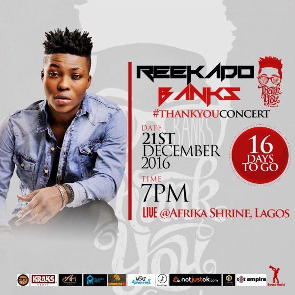Image result for reekado banks thank you concert