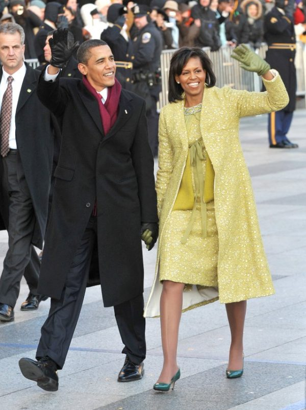 WASHINGTON - JANUARY 20:  President Barack Obama and first lady Michelle Obama walk in the Inaugural Parade on January 20, 2009 in Washington, DC. Obama was sworn in as the 44th President of the United States, becoming the first African-American to be elected President of the US.  (Photo by Ron Sachs-Pool/Getty Images)