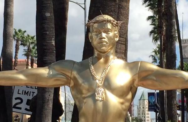 'False Idol' – Statue depicting crucified Kanye West erected in US
