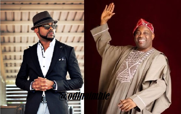"Banky W Spotted Prostrating To Dele Momodu In Public, Shames Davido's Lyrics ""Dele Na My Boy"" (Photos)"