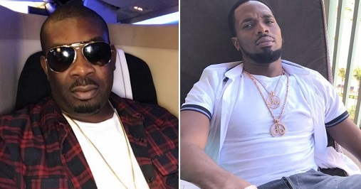 See fans' reactions after Don Jazzy congratulates Dbanj over new born baby 1