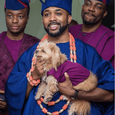 Screen Shot 2017 11 27 at 11.23.29 AM 384x384 - While Some People Could Not Get Full Aso-ebi To #BAAD2017, Banky's Dog Duke Did