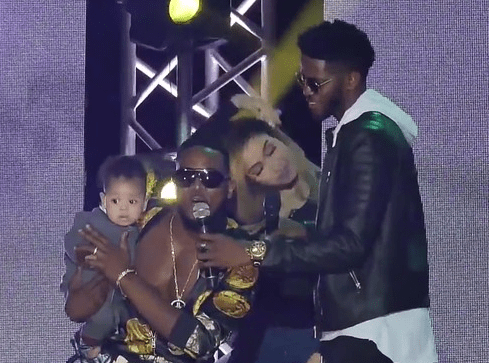 The Moment D'banj Introduced His Cute Son And Wife Live On Stage