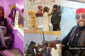 BankyW and Adesua Etomi celebrate their wedding with a big thanksgiving and reception party in London