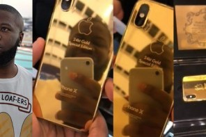 Hushpuppi shows off his N2.4 million gold-plated iPhone X