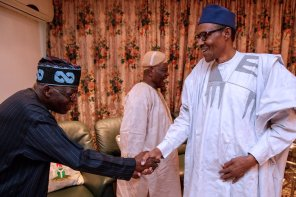 President Buhari meets Tinubu and Bisi Akande