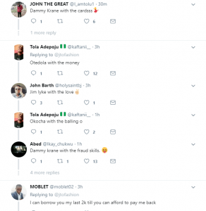 djd 292x300 - Hilarious! Take a look at how Nigerians reacted to Temi Otedola's card fraud case
