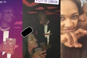 Wizkid spotted in a party with His Ex-Girlfriend, Tania Omotayo In London