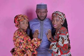 This Pre Wedding Photos Of Kogi State Man & His 2 Brides To Be Has Gone Viral