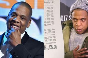 Jay-Z spends N32M on drinks in one night! and tipped the waitress N3.9M
