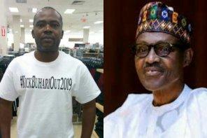 Man Boldly Rocks #KickBuhariOut2019 T-shirt; Nigerians Quickly React